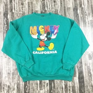 Vintage Mickey Mouse Sweatshirt Green California
